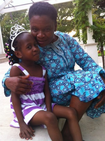Five-year-old Confidence and her mother Mary from Benin City, Nigeria. (Photo: Business Wire)