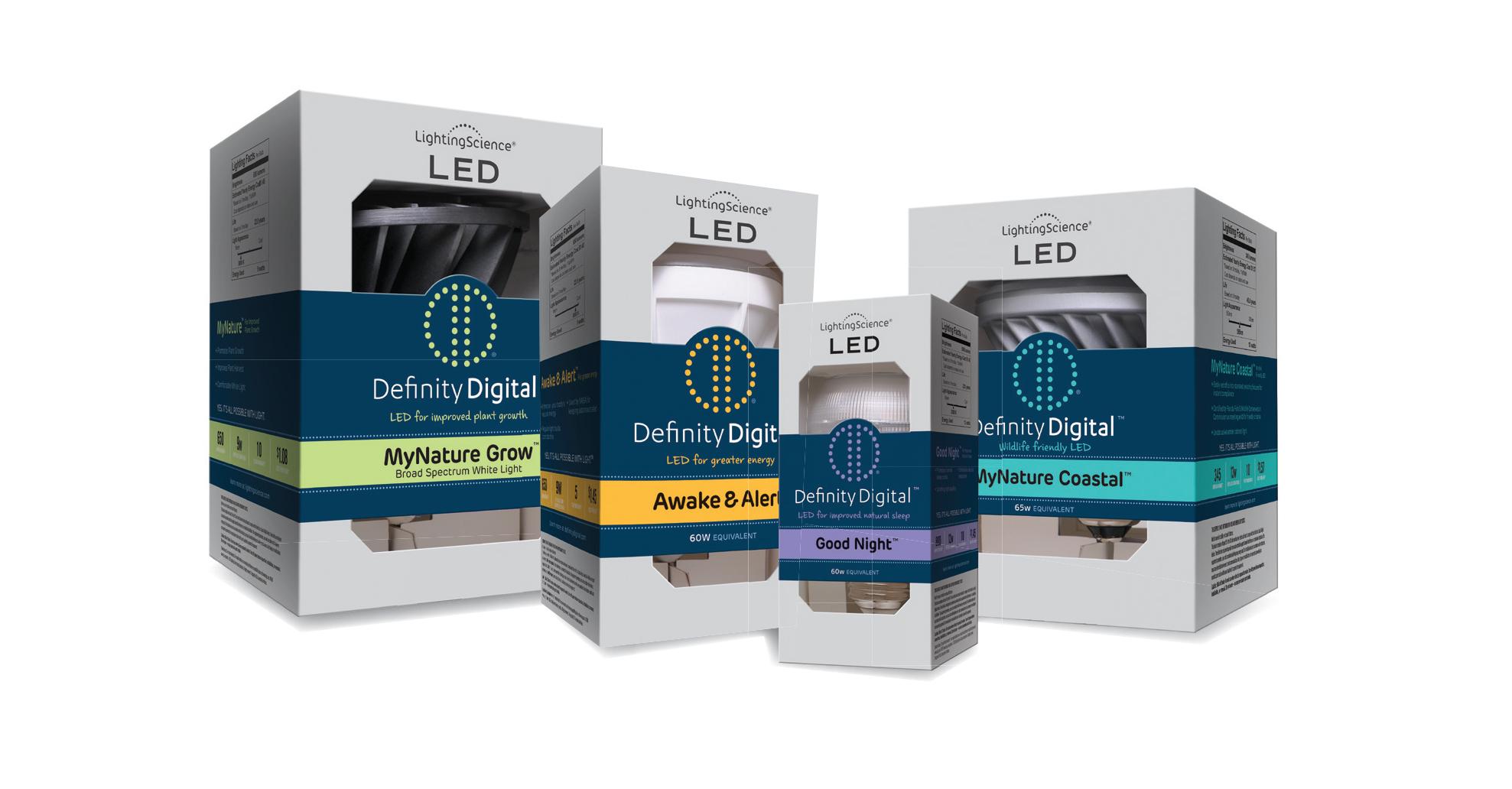 New Definity Digital Led Light Bulbs