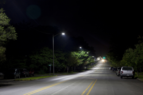 GE Evolve(TM) LED Roadway Cobrahead fixtures have been installed in more than 30 member communities ...