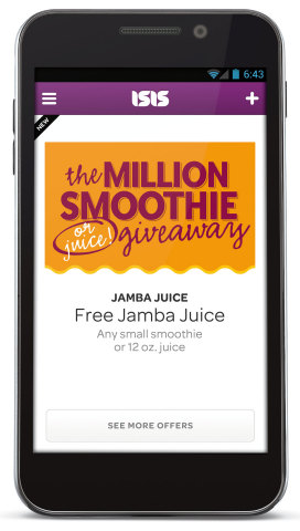 Jamba Juice and Isis Announce Million Free Smoothie Giveaway (Photo: Business Wire)