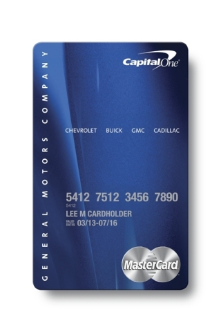Gm Capital One >> Capital One and General Motors Introduce New Automotive ...