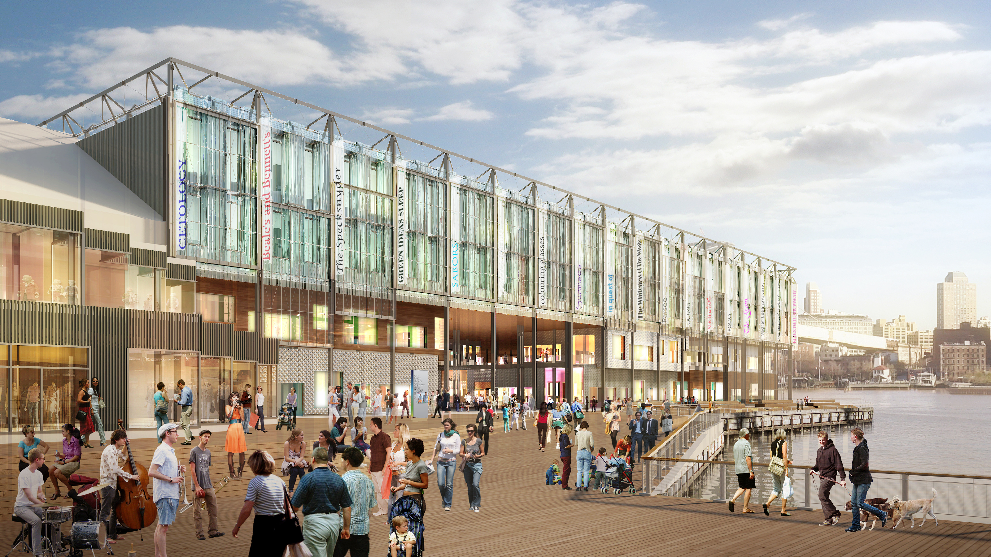 Fulton Plaza at future Pier 17 building (Photo: Business Wire)