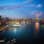 Fireworks from the future Pier 17 building (Photo: Business Wire)