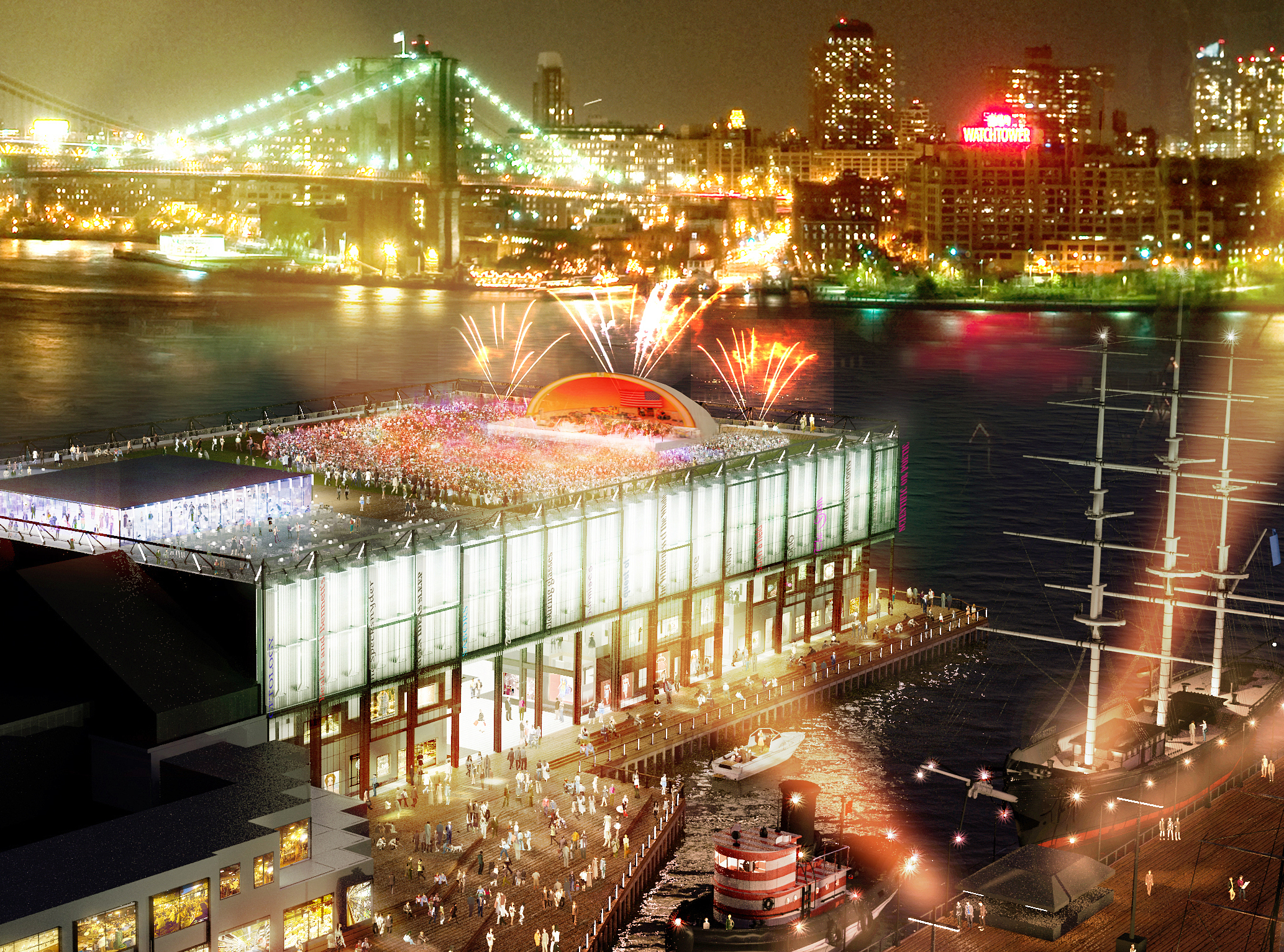 Rooftop at Night at the future Pier 17 building (Photo: Business Wire)