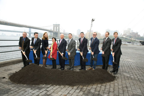Ceremonial groundbreaking on October 17th for future Pier 17 building at the South Street Seaport (Photo: Business Wire)
