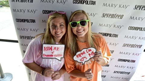Mary Kay Inc. partners with the women of Alpha Chi Omega to bring an end to dating abuse and domestic violence. (Photo: Business Wire)