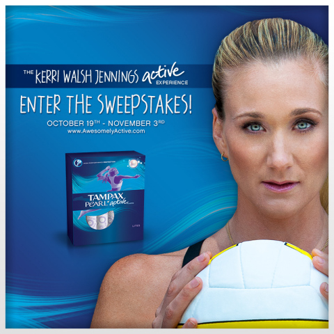 "Enter ""The Kerri Walsh Jennings Active Experience"" sweepstakes by visiting awesomelyactive.com from October 19, 2013 until November 3, 2013 (Photo: Business Wire)"