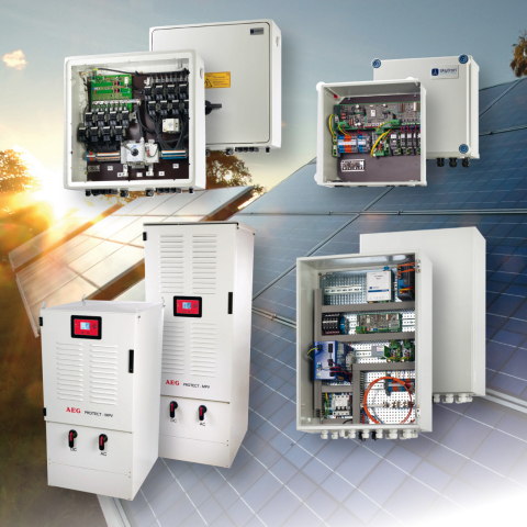 Inverters and monitoring from AEG Power Solutions and skytron energie (Photo: Business Wire)