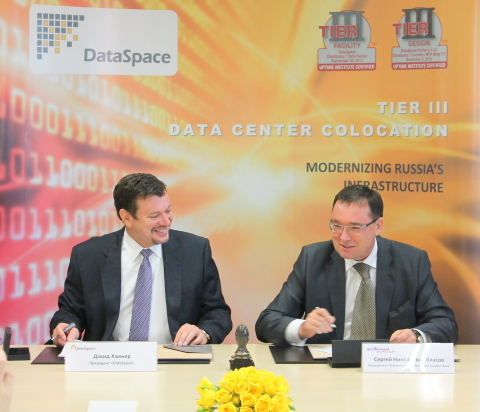 The second largest data center outsourcing contract in Russia is consummated by Data Space CEO David ...