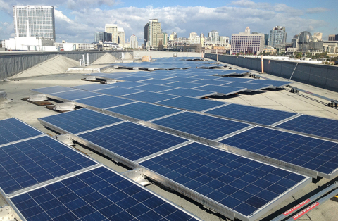 Enphase Energy microinverters installed in over 3MW of solar projects developed by Main Street Power Company, Inc., for the San Diego Unified School District. (Photo: Business Wire)