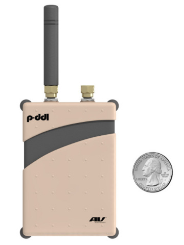 AeroVironment's four-ounce Pocket DDL™ is as small as a deck of playing cards but provides secure re ...