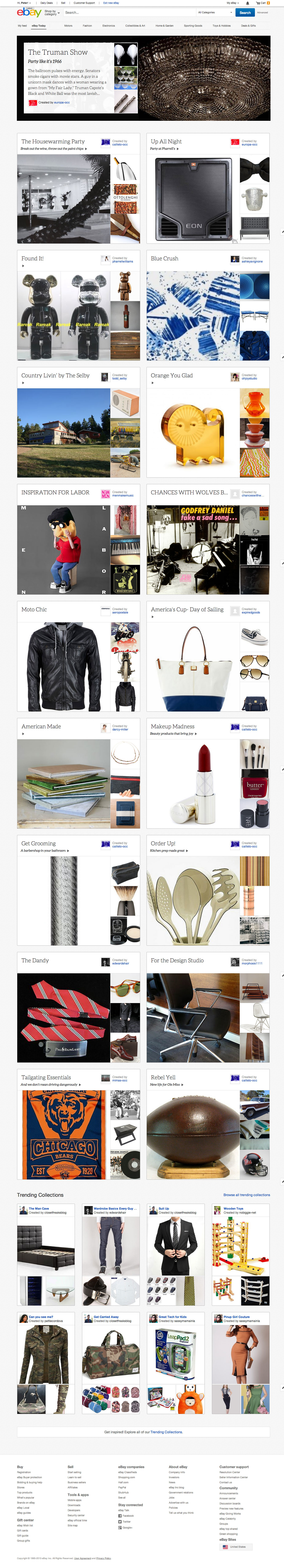 eBay Today, a new page on eBay that helps you easily discover the very best collections of items on eBay