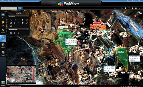 BAE Systems' GXP WebView enables the visualization, mensuration, and annotation of imagery directly  ...
