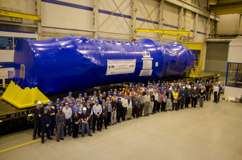 The Babcock & Wilcox Canada team with a replacement steam generator bound for FirstEnergy's Davis-Be ...