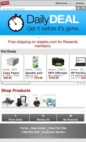 The Staples online storefronts will be fully integrated with the company's mobile platforms to prese ...