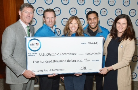 Citi CEO Michael Corbat along with Team Citi athletes Dan Jansen, Picabo Street and Rico Roman prese ...