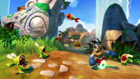 The Wii U version of Skylanders SWAP Force stands apart, with touch-screen interfaces on the Wii U GamePad controller and the ability to play the entire game on the GamePad while someone else watches TV. (Graphic: Business Wire)