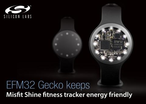 "EFM32 Gecko MCU keeps Misfit Shine wearable fitness tracker ""energy friendly"" (Graphic: Business Wire)"