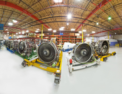 ILFC subsidiary AeroTurbine's expansive engine and parts inventory warehouse (Photo: Business Wire)