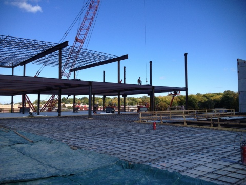 steel frame begins to emerge for future kansas city area ikea store on track to open fall 2014. Black Bedroom Furniture Sets. Home Design Ideas