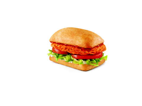 SONIC's new Island FireTM Spicy Chicken Sandwich features a 100 percent all-white meat crispy chicke ...