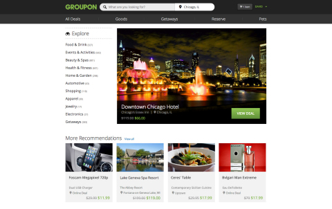 Groupon has a new website with features aimed at making it easier than ever for customers to shop Gr ...
