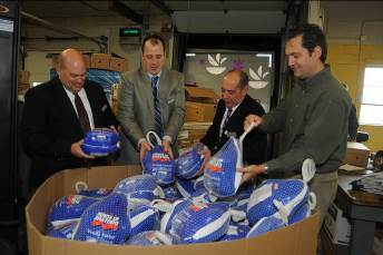 As part of Stop & Shop's mission to share meals and give thanks this holiday season, its Turkey Express program will deliver more than 21,000 turkeys to hunger relief organizations across the Northeast. (Photo: Business Wire)