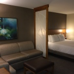 The hotel offers 159 spacious guestrooms, all of which feature a 42-inch HDTV, the plush Hyatt Grand Bed(R) and a Cozy Corner sectional sofa. (Photo: Business Wire)