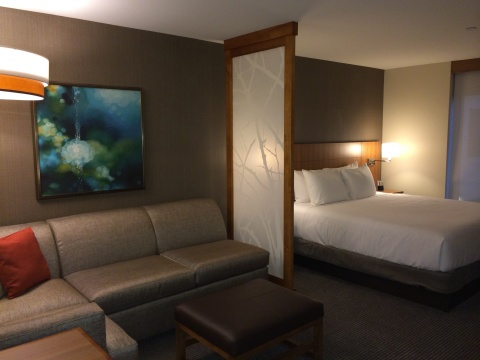 The hotel offers 159 spacious guestrooms, all of which feature a 42-inch HDTV, the plush Hyatt Grand ...