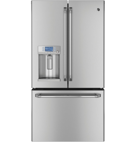 The hot water dispenser on the GE Café(TM) French door refrigerator was named Best Feature in a refrigerator for 2013 by Reviewed.com. (Photo: GE)