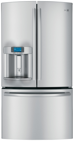 The GE Profile(TM) French door refrigerator earned top honors in Reviewed.com's 2013 Best of Year Award program for the Best Refrigerator of the Year and Best French Door Refrigerator. (Photo: GE)