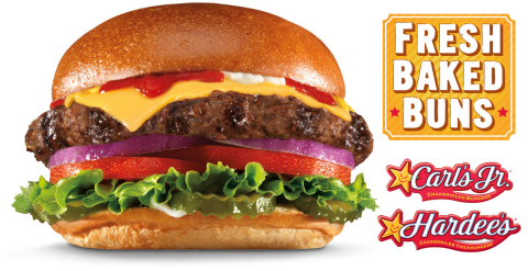 Carl's Jr. and Hardee's once again raise the high-quality bar they set for fast-food burgers with the introduction of new Fresh Baked Buns, baked fresh in-restaurant every day. (Graphic: Business Wire)