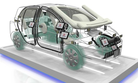Wire-made Exhibition Car (Photo: Business Wire)