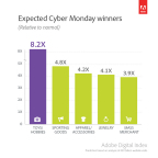Most popular products on Cyber Monday (Graphic: Business Wire)