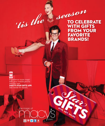 Macy's integrates iD visual recognition technology into its Star Gifts app allowing customers to shop on the go from catalogs, billboards and magazine ads. (Graphic: Business Wire)