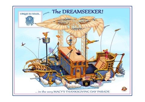 Cirque du Soleil and Macy's are set to debut the new DREAMSEEKER by Cirque du Soleil float at the 87th annual Macy's Thanksgiving Day Parade this November. (Graphic: Business Wire)