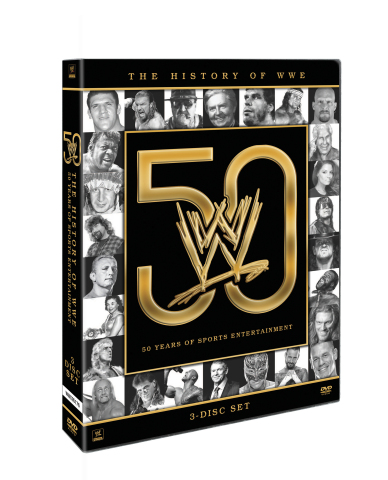The History of WWE: 50 Years of Sports Entertainment cover art (Photo: Business Wire)