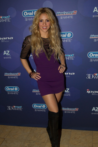 November 8, 2013: Crest and Oral-B 3D White today unveiled Shakira's SmileStory asking fans to share theirs with #3DWhiteSmile at Blue and White Gala in Barcelona, Spain. (Photo: Business Wire)