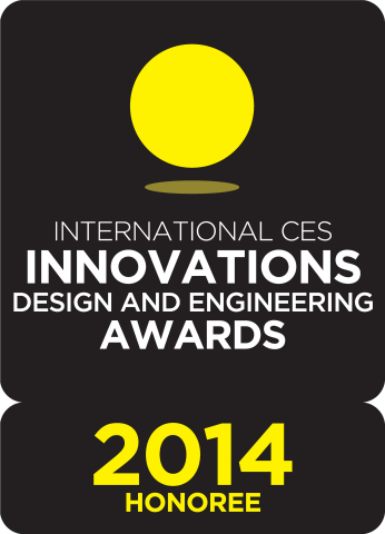 Today the Logitech Wireless All-in-One Keyboard TK820, Logitech G602 Wireless Gaming Mouse and Logitech G430 Surround Sound Gaming Headset have been named International CES Innovations 2014 Design and Engineering Awards Honorees. (Graphic: Business Wire)