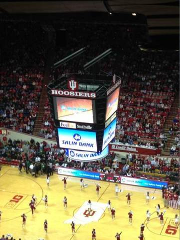 Salin Bank signage at Indiana University's Assembly Hall (Photo: Business Wire)