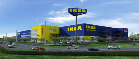IKEA to install solar panels on future Miami store in Sweetwater, array to be south Florida's largest when store opens in summer 2014. (Photo: Business Wire)