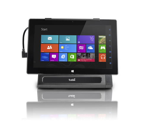Tobii EyeMobile provides individuals afflicted with spinal cord injury, muscular dystrophy, arthritis and other demobilizing conditions with hands-free access to the full functionality of Windows 8 tablet devices, allowing them to live richer, more independent and fulfilled lives. (Photo: Business Wire)