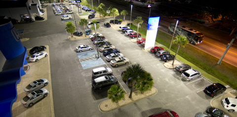 Working with Eaton's Cooper Lighting business and Georgia Power, Nalley Honda-Buick-GMC-Isuzu implemented several LED solutions to achieve impressive illumination and an overall energy savings of 60 percent. (Photo: Business Wire)