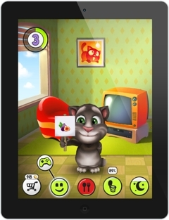My Talking Tom is free and available to download on Android, iPad, iPhone, Kindle and Windows Phone 8 (Graphic: Business Wire)