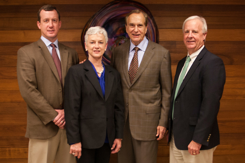 Daseke Inc., of Addison, Texas, and Clayton, Ala.-based Boyd Bros. Transportation have announced a merger, creating one of the largest open-deck/specialty fleets in North America. From left to right are Chris Cooper, COO of Boyd Bros. Transportation; Gail Cooper, CEO of Boyd Bros. Transportation; Don Daseke, CEO of Daseke; and Richard Bailey, President of Boyd Bros. Transportation.  Daseke will be Chairman of the Board of Daseke and Bailey will be Vice Chairman. Chris Cooper will also join the Daseke board. (Photo: Business Wire)