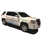 Pictured is a Bi-Fuel Natural Gas GMC Terrain owned by Silver Eagle Distributing with the natural gas system developed by AGA Systems and Nat G CNG Solutions. (Photo: Business Wire)