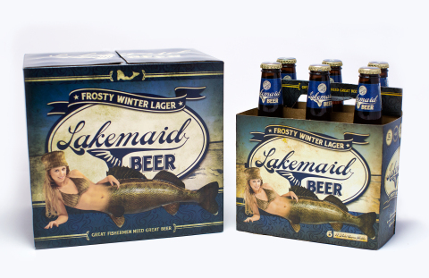 Just in time for ice fishing season: Lakemaid Beer's Frosty Winter Lager. (Photo: Lakemaid Beer)