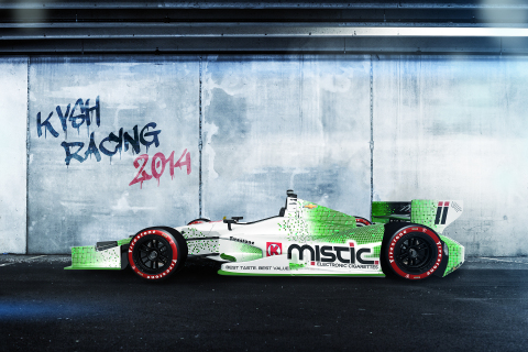 "KVSH Racing's No. 11 ""Mistic® Machine"" to Debut in 2014-2015 IndyCar Series Season (Photo: Business Wire)"