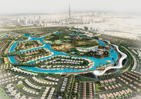Crystal Lagoons is building the world's largest man-made lagoon, which upon completion will be about 90 acres, at the Mohammed Bin Rashid City - District One residential community in Dubai. (Photo: Business Wire)