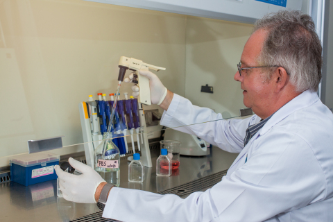 Dr. Michel Vandenplas, senior scientist at Ross University School of Veterinary Medicine (Photo: Bus ...